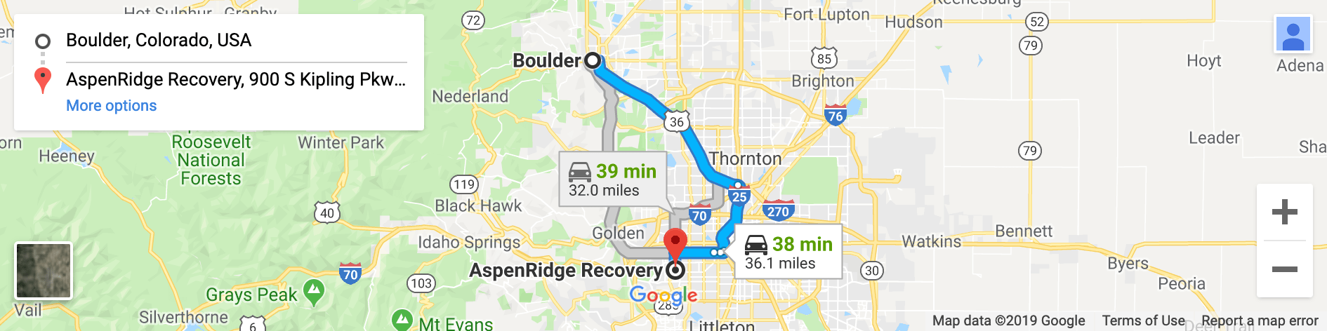 Boulder addiction resources map